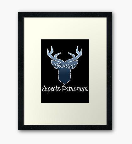 """Expecto Patronum """"Always"""" Framed Print"""