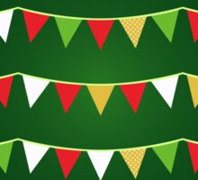 Christmas bunting for your party / Dark green Sticker
