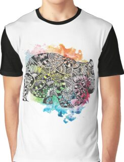 Wombat with Dododoodles and Watercolour Graphic T-Shirt