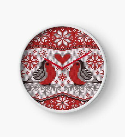 Bullfinchs Jacquard Clock