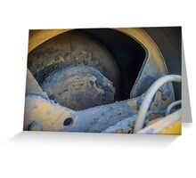Steam roller detail Greeting Card