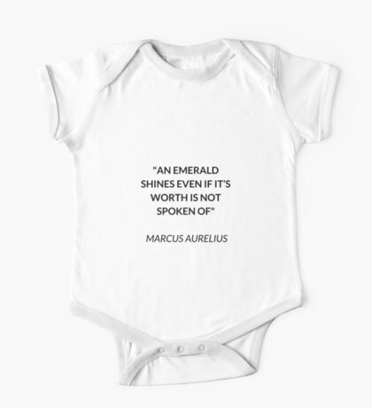 AN EMERALD SHINES - STOIC QUOTE One Piece - Short Sleeve