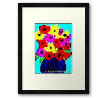 April Flowers Bouquet Framed Print