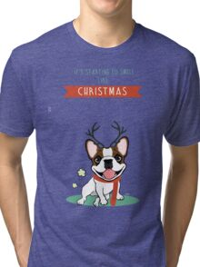IT'S STARTING TO SMELL LIKE CHRISTMAS Tri-blend T-Shirt