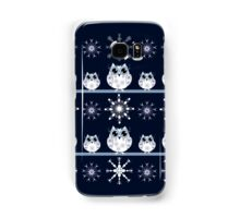Cute Owls and Snowflakes Samsung Galaxy Case/Skin