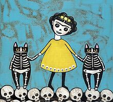 Frida y Gatos in Yellow by Ryan Conners