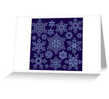 Snowflake Types Greeting Card