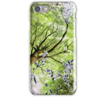 Bluebells viewed from a worms eye iPhone Case/Skin