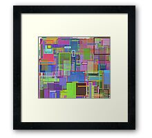 Multi Rectangle Framed Print