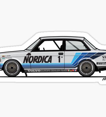 Volvo 240 242 Turbo Group A Homologation Race Car Sticker