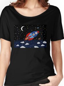 Space - Rocket - Cat - Dog Women's Relaxed Fit T-Shirt