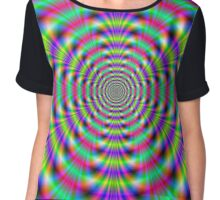 Psychedelic Rings Chiffon Top