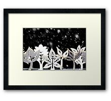 Fantasy winter snow scene  Framed Print