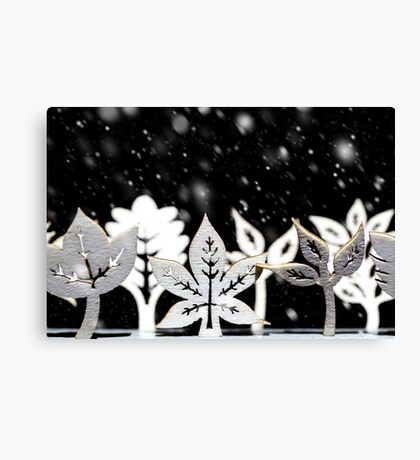 Fantasy winter snow scene  Canvas Print