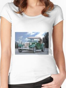 1953 MG TD Roadster Women's Fitted Scoop T-Shirt
