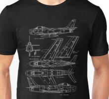 F-86 Concept Blueprint Unisex T-Shirt