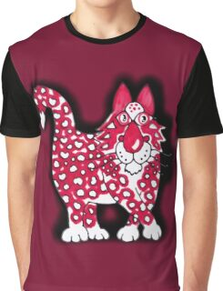 Red, black and white Graphic T-Shirt