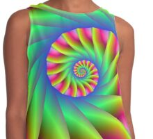 Psychedelic Spiral Steps Contrast Tank
