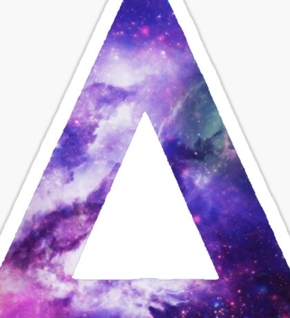 Bastille Triangle Logo (Galaxy Print) Sticker