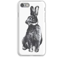 Rabbit, black and white pencil drawing iPhone Case/Skin