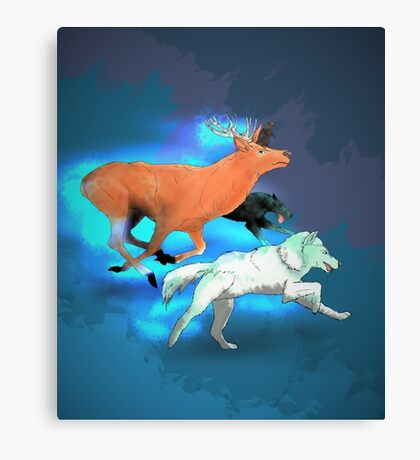 Wormtail, Padfoot, Moony and Prongs Canvas Print