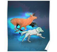 Wormtail, Padfoot, Moony and Prongs Poster