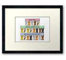 Cats celebrating June 20th Birthday. Framed Print