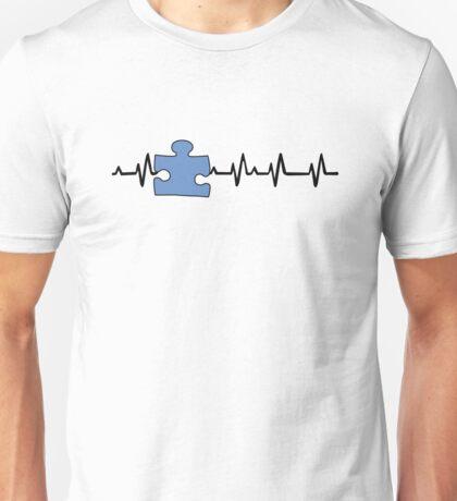 Autism Awareness Ribbon black Unisex T-Shirt