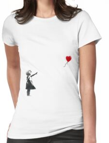 Banksy Womens Fitted T-Shirt