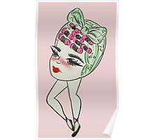 Roller Set Girl Poster