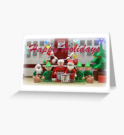 Happy Hoildays From The North Pole (Text) Greeting Card