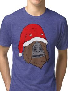 Sassy and the Bucket Hat - Christmas Edition Tri-blend T-Shirt