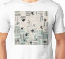 Pencil Line with Stars Unisex T-Shirt