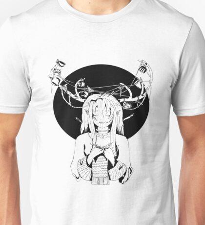 Knitting Deer Girl Unisex T-Shirt