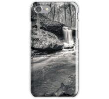 Blue Hen Falls - B&W HDR iPhone Case/Skin