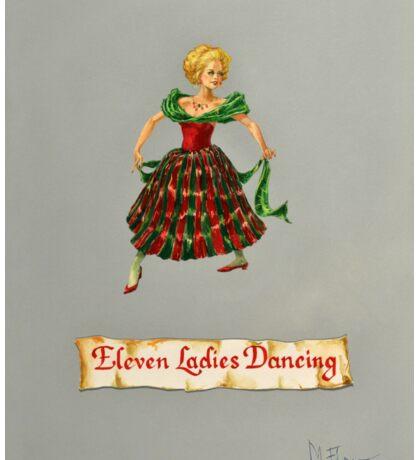 11 Ladies Dancing Sticker