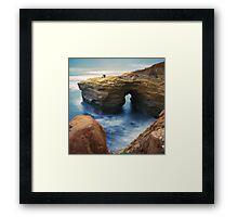 Sunset Cliffs, San Diego, CA. Framed Print
