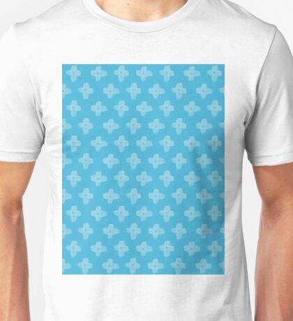 Daisy Cross Embroidery Brush Stroke Unisex T-Shirt