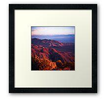 Keys View - Joshua Tree National Park Framed Print