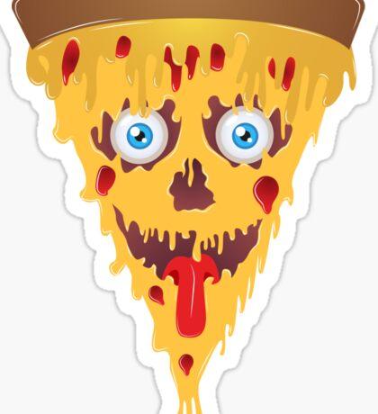 Zombie Pizza [v2] with eyes Sticker