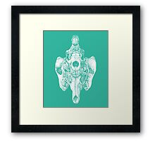 Around the Coyote - Teal Framed Print