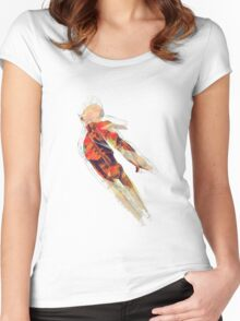 Rocketman Blastoff Shredded Women's Fitted Scoop T-Shirt