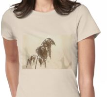 Frosty Wild Grass Womens Fitted T-Shirt
