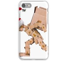 Christmas character carrying a large box iPhone Case/Skin