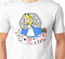 Alice in playing cards Unisex T-Shirt