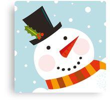 Good morning, Snowman! Cute art illustration Canvas Print