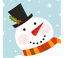 Good morning, Snowman! Cute art illustration Photographic Print