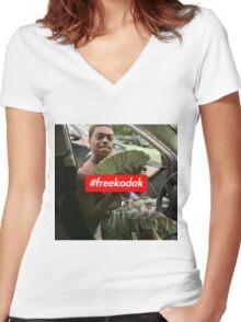 Free Kodak Black x Supreme Women's Fitted V-Neck T-Shirt