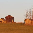 Old Farm Buildings by Kathi Huff
