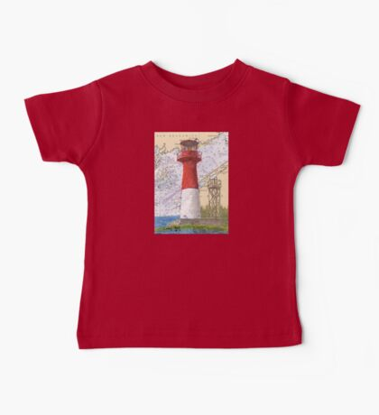 Cape Spencer Lighthouse NB Canada Chart Cathy Peek Baby Tee